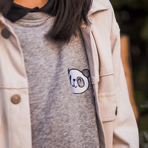 Grey Panda Sweatshirt - Kids