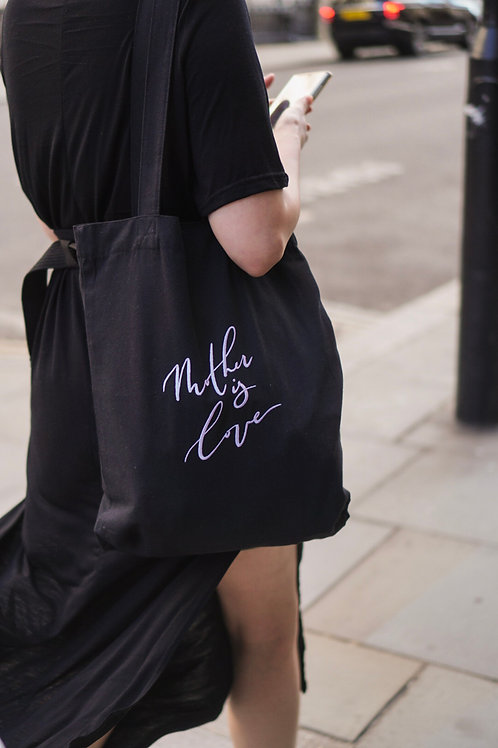 Embroidered Mother is Love Tote Bag
