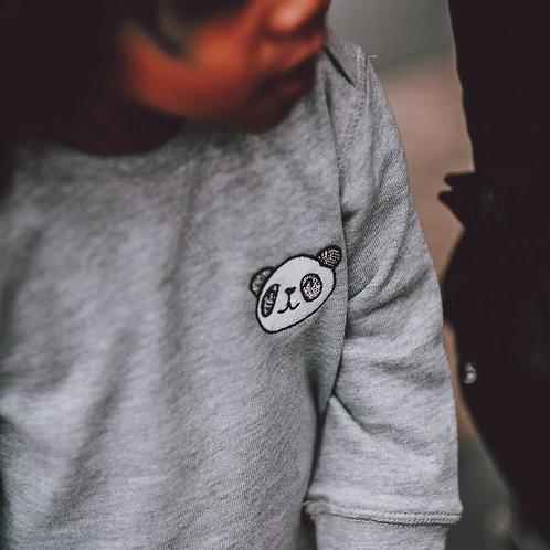 Grey Little Panda Sweatshirt