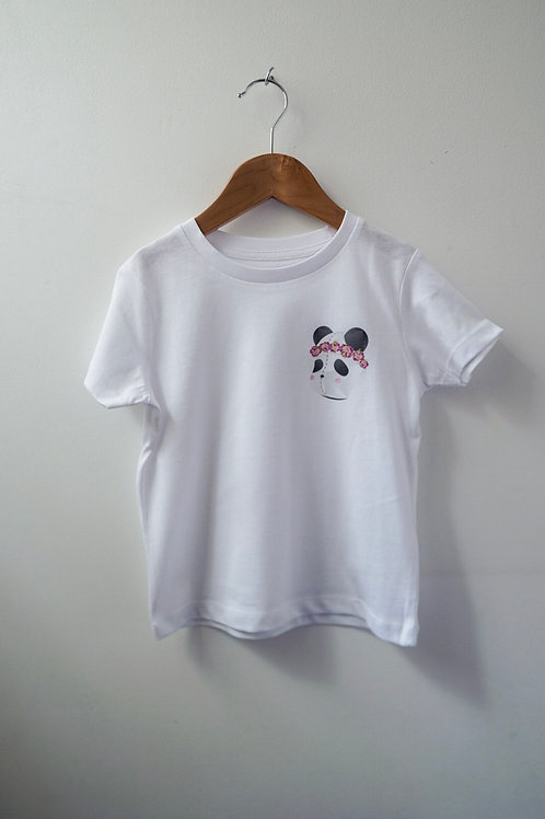 Princess Panda Children Tee: Chest Logo Print