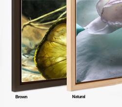 Brown & Natural Floater Frame