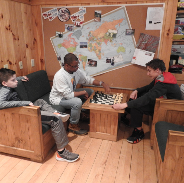 Base House for some winter chess.