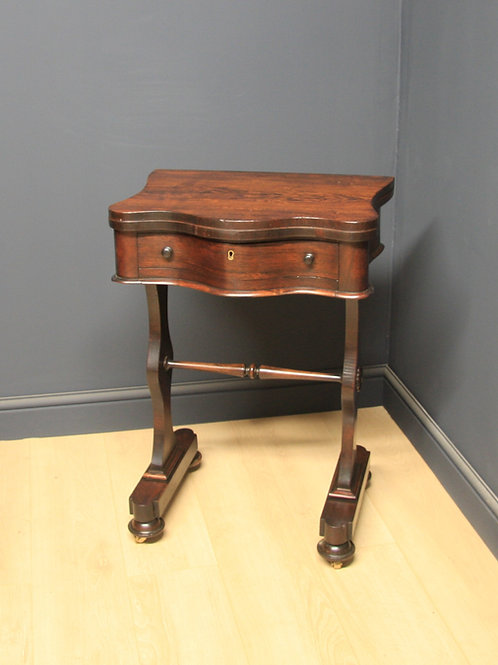 Victorian Rosewood Work / Card Table