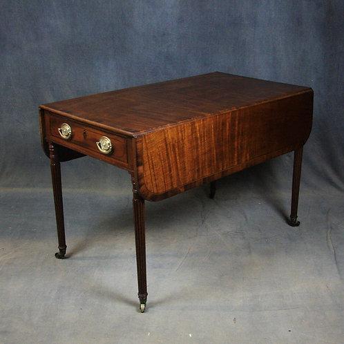 Large Regency Mahogany Pembroke / Dining Table
