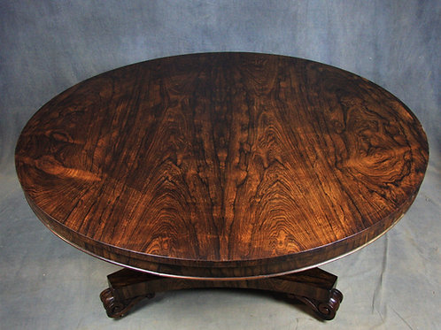 William IV Rosewood Circular Breakfast / Dining Table