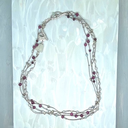 Ruby Mix Long Necklace