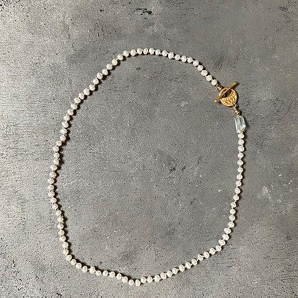 Pearl + Gem Short Necklace