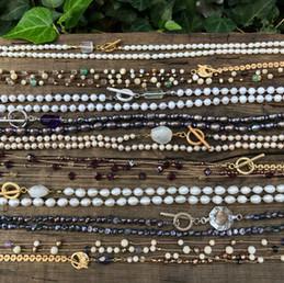 silk long necklaces