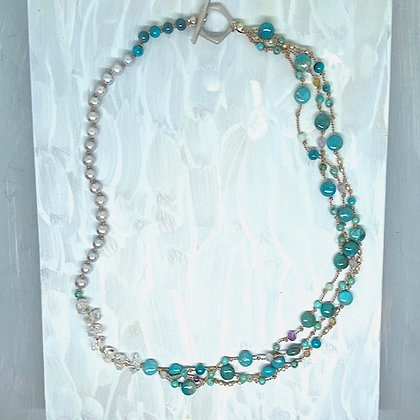 Turquoise Mix Short Necklace