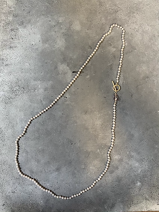 Pearl + Gem Long Necklace