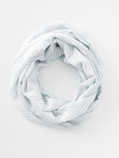 Grey Palm Infinity Scarf