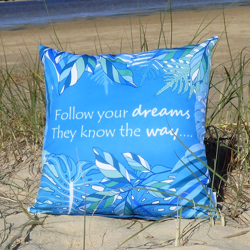 OUTDOOR Dream Quote cushion cover