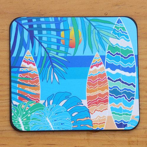 Surfboard Palm Coaster