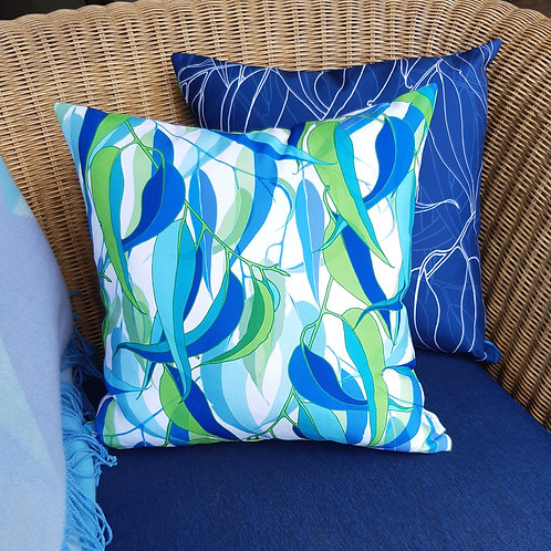 OUTDOOR INDOOR Gum Leaf cushion cover