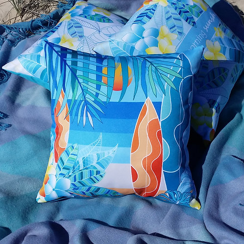 OUTDOOR INDOOR Frangipani Surf cushion cover