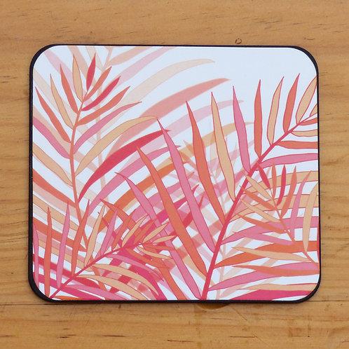 Coral Palm Coaster