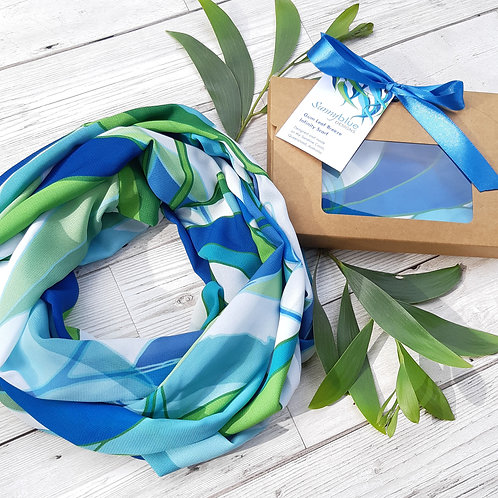 Gum Leaf Breeze Infinity Scarf