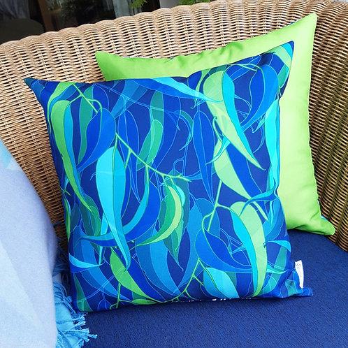 OUTDOOR INDOOR Midnight Gum Leaf cushion cover