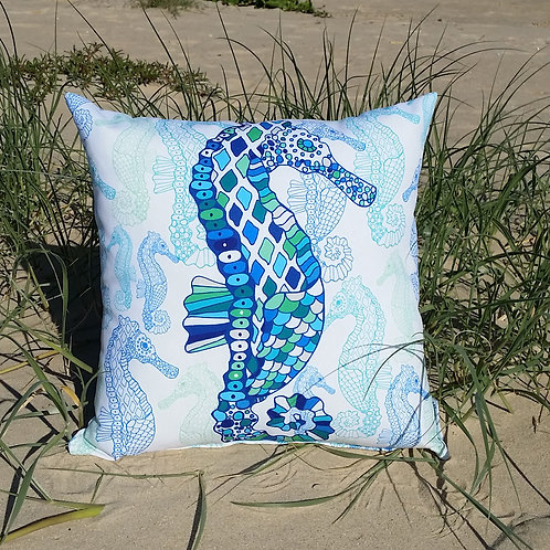 OUTDOOR Large Seahorse cushion cover