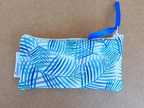 Blue Palm zippy pouch