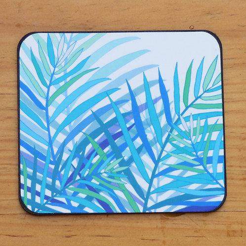 Blue Palm Coaster