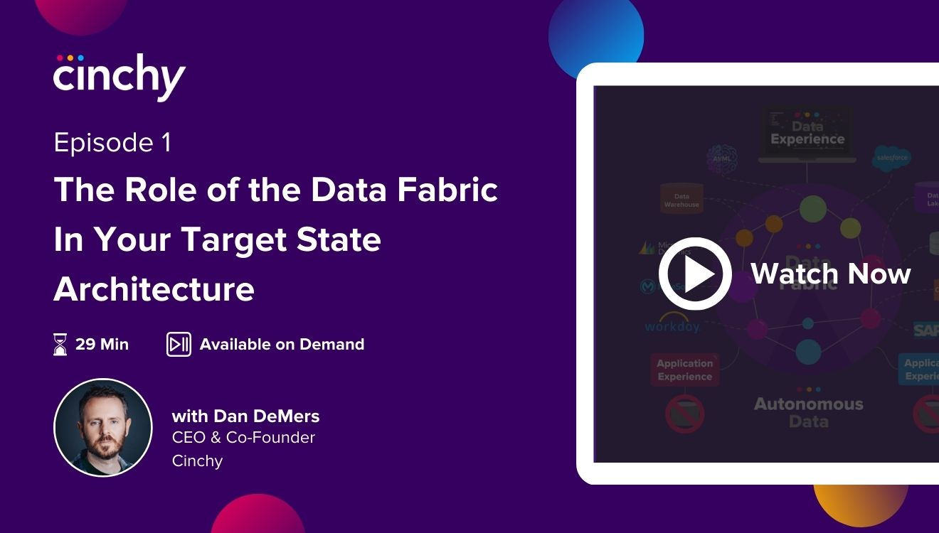 [Season 1 Ep. 1] The Role of the Data Fabric In Your Target State Architecture