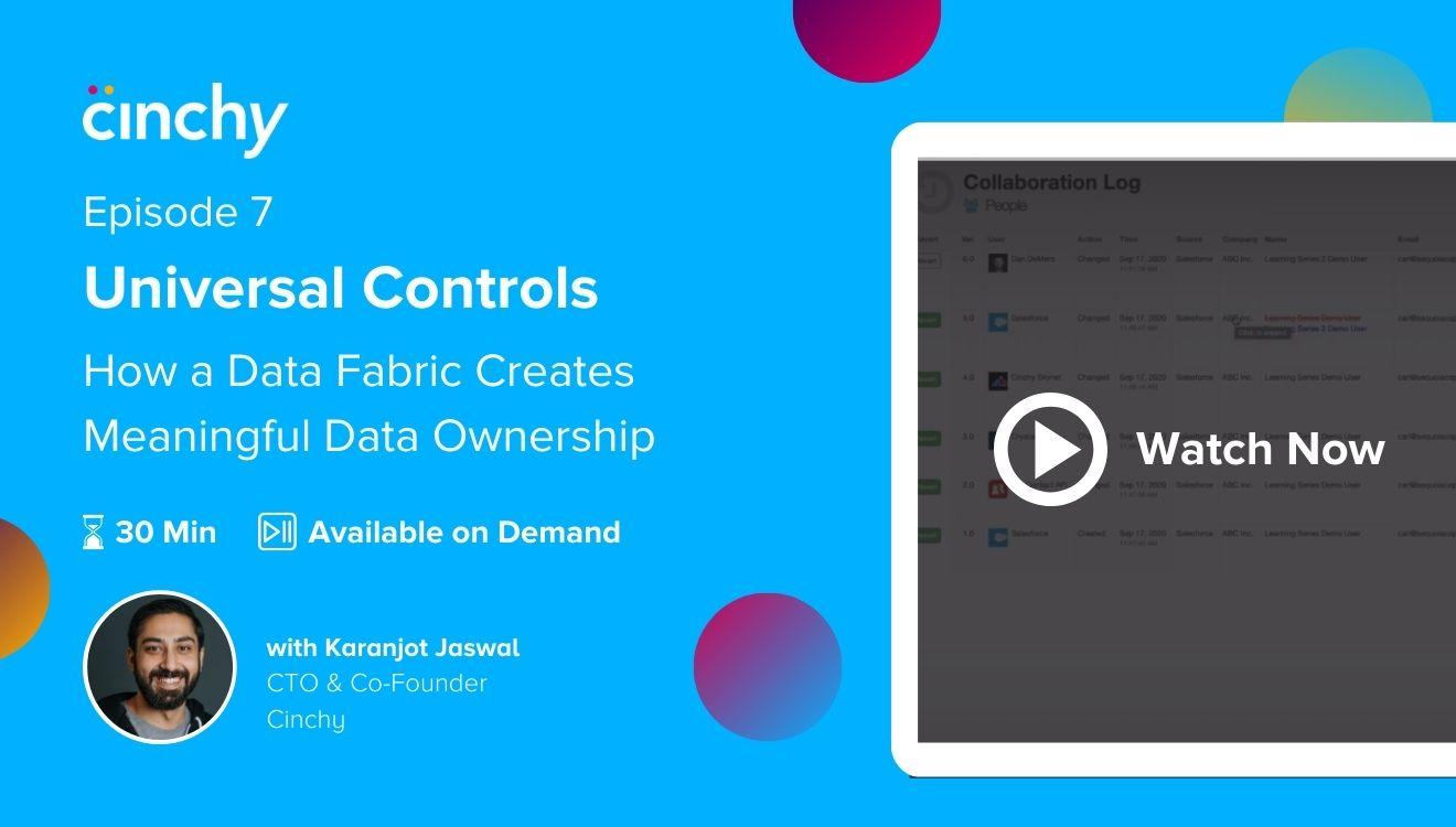 [Season 1 Ep. 7] Universal Controls: How a Data Fabric creates meaningful data ownership