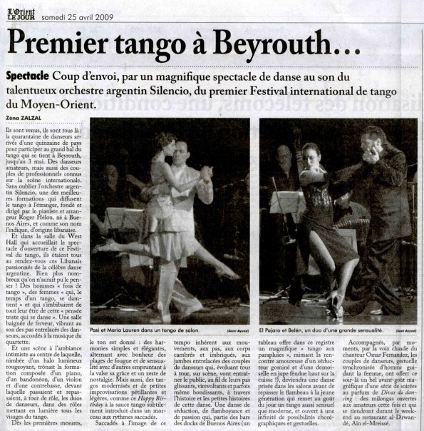 Journal de tango Beyrouth