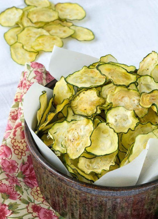 Zucchini Salt & Vinegar Chips