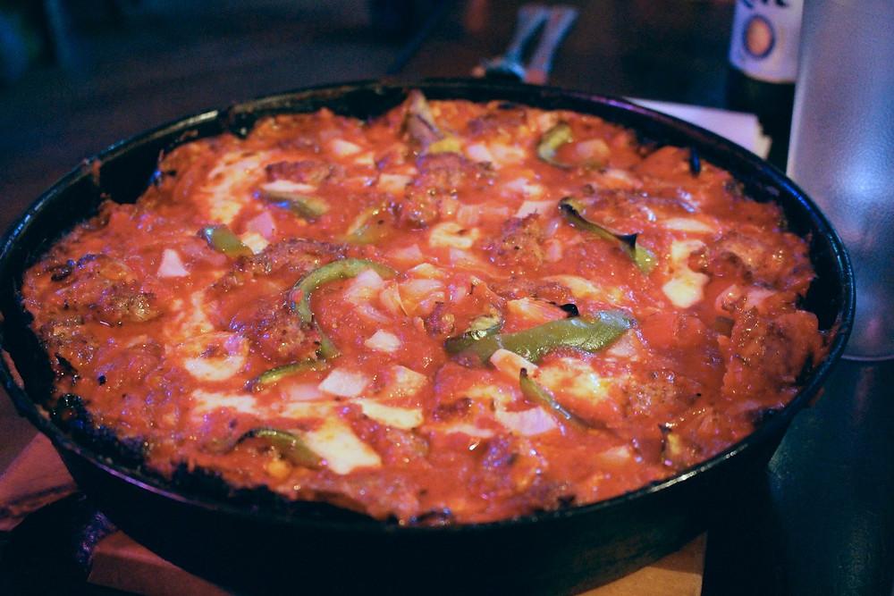 Deep Dish Pizza at Pequod's