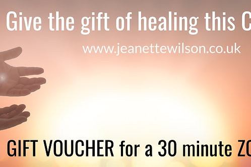 Gift voucher for a 30 minute Zoom Healing
