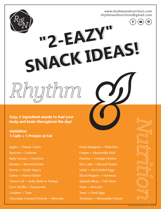"""2 Eazy"" Snack Ideas to Fuel Your Body and Brain!"