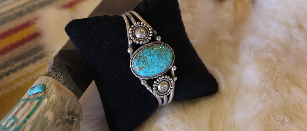 #8 Spider Web Turquoise 1940s