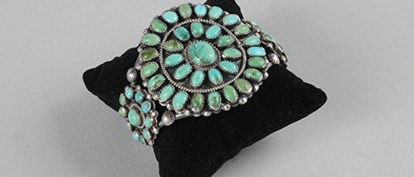 1940s Turquoise Cluster Bracelet