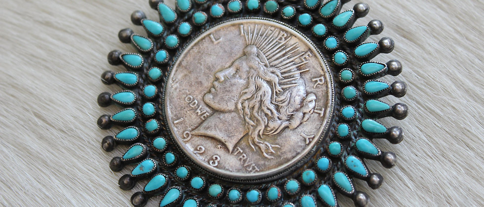 1940's Cluster Pendant with Liberty Dollar