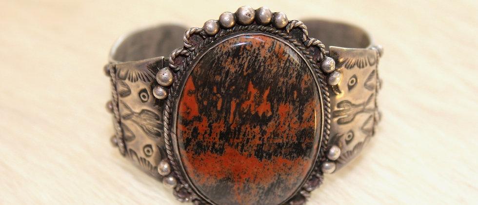 1940s Petrified Wood Bracelet