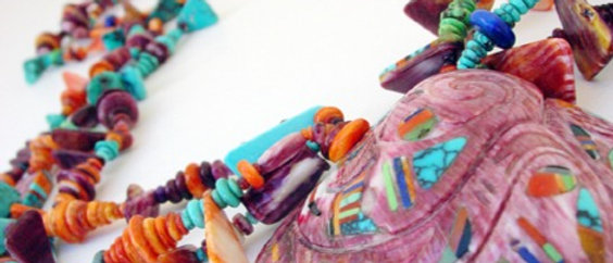 Multi-stone Bead and Shell Necklace