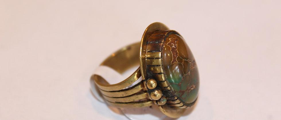 Brass Battle Mountain Mine Ring