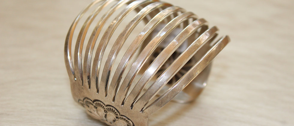 Silver Cuff with Concho Repousse