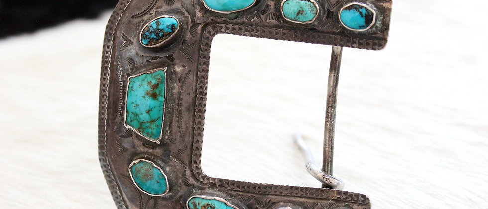 Turn of the Century Turquoise Belt Buckle