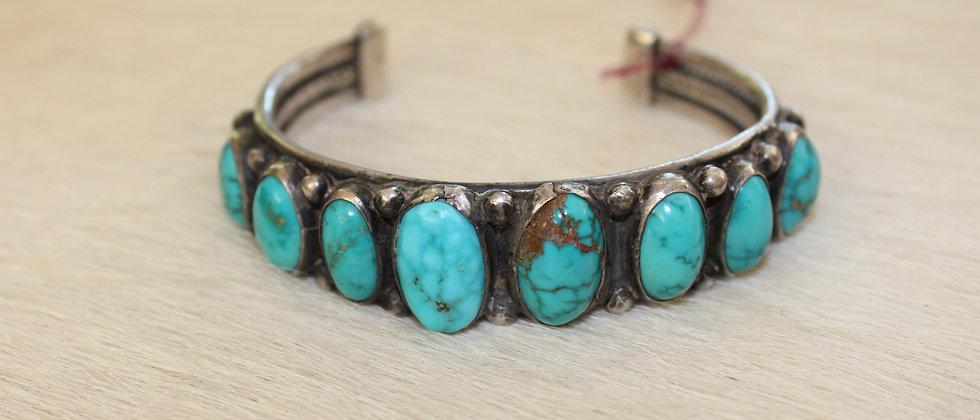 1930s Turquoise Row Bracelet