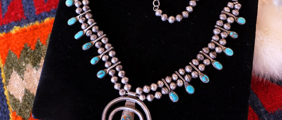 1920s Delicate Turquoise Necklace