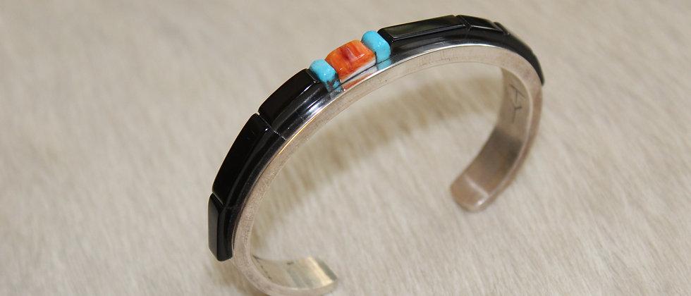 Tim Yazzie Black Jade Bracelet