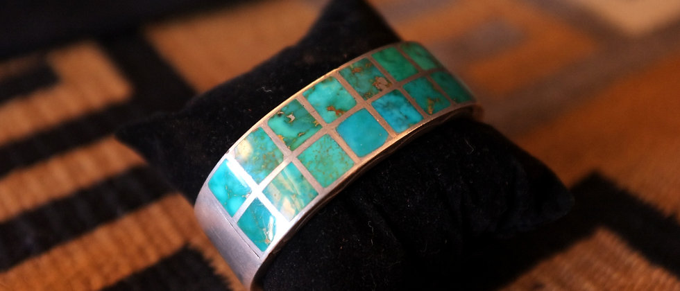 1950s Blue Gem Turquoise Bracelet