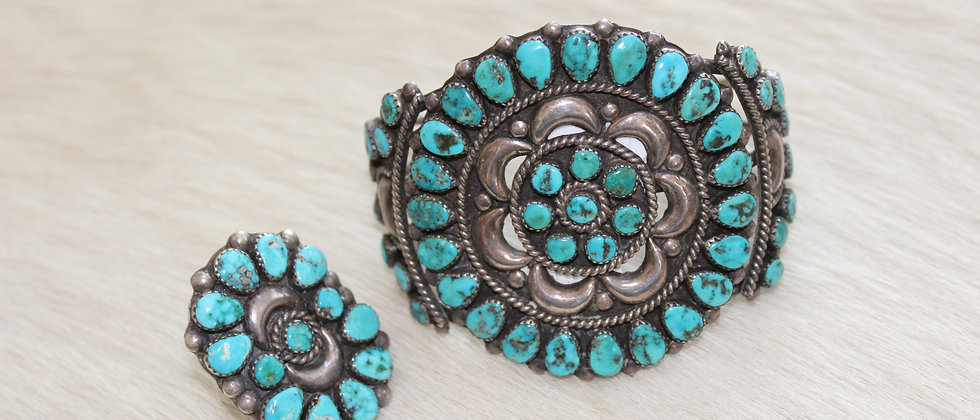 Cluster Bracelet & Matching Ring