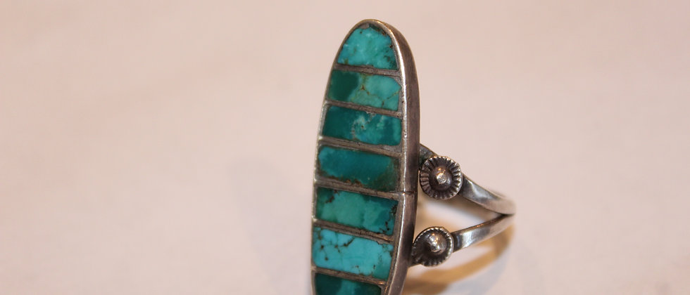 Narrow Zuni Inlay Ring