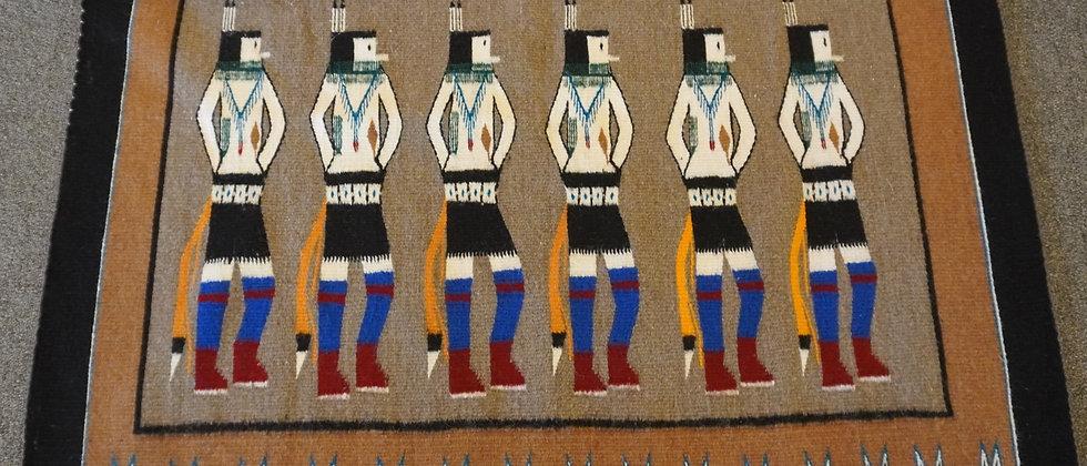 Yei-bi-Chai Design Navajo Rug