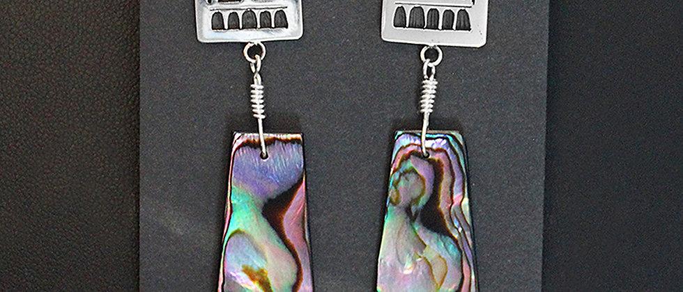 Tim Yazzie Abalone Earrings
