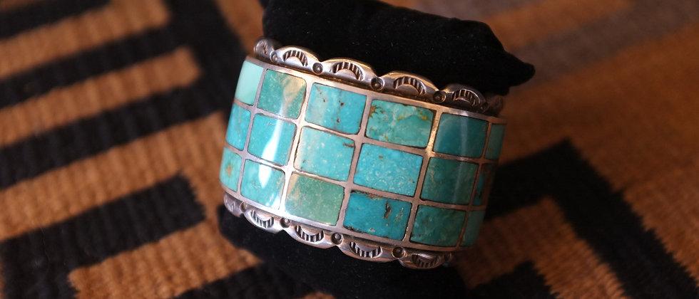 1940s Turquoise Inlay Bracelet