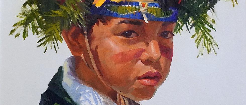 """""""Pueblo Boy Ceremony Day"""" by Mike Desatnick"""